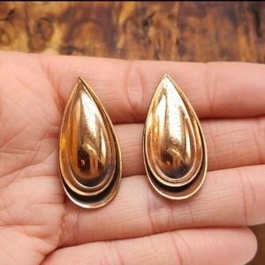 Vintage art copper tear drop southwest gypsy
